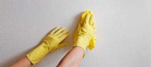 limpar parede textura grafiato